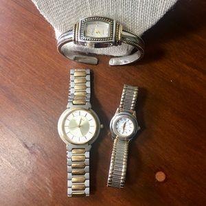Fashion Watches bundle two tone Anne Klein & Oscar